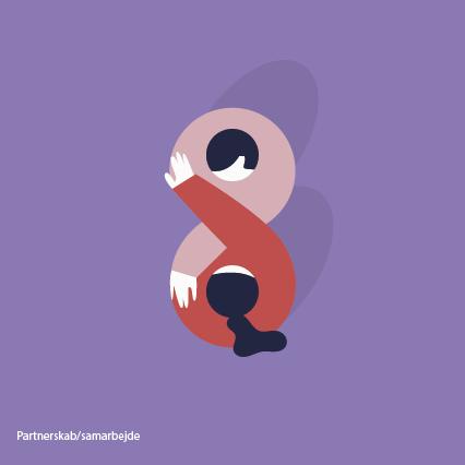 Illustrationer_skitser Til DH_colorful_v2_7. Partnerskab-samarbejde